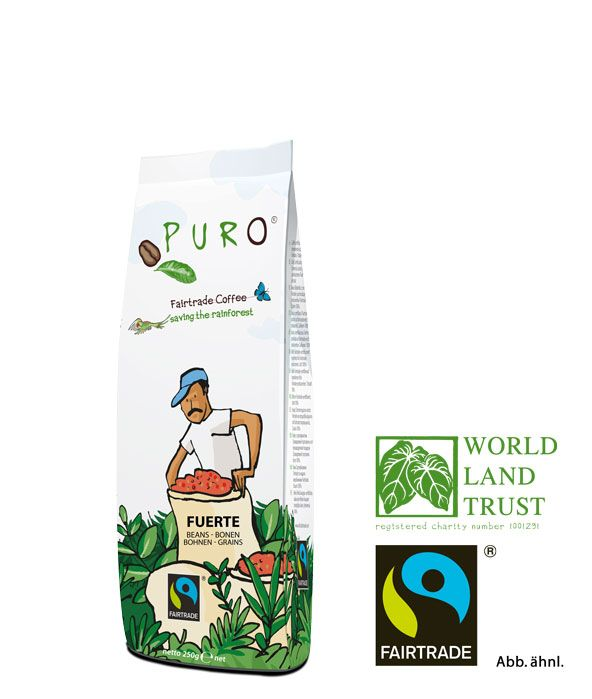 Puro Fairtrade Fuerte - Bean 250 g