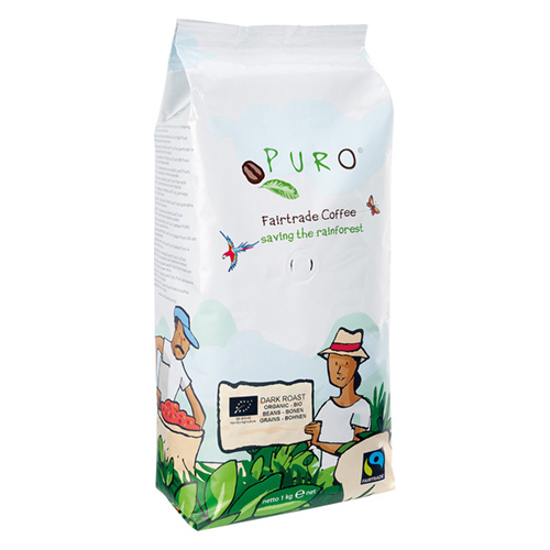 Puro Fairtrade Organic Dark Roast - Bean 1.000 g