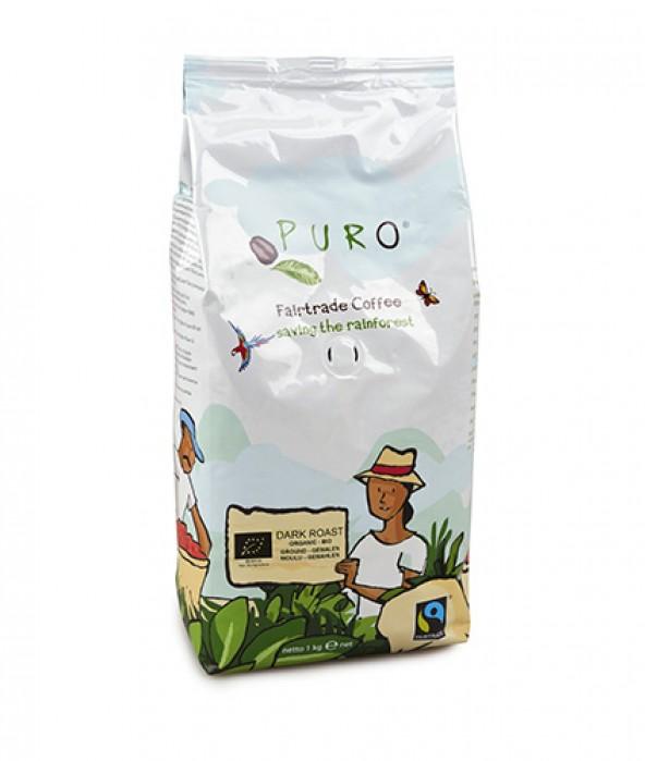 Puro Fairtrade Organic Dark Roast - Ground 1.000 g