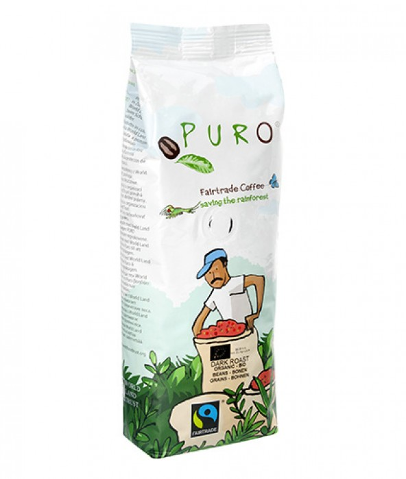Puro Fairtrade Organic Dark Roast - Bean 250 g