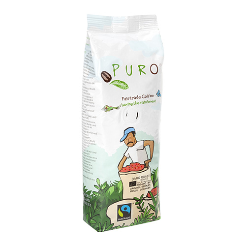 Puro Fairtrade Organic Dark Roast - Ground 250 g