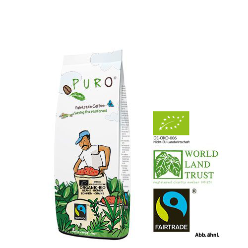 Puro Fairtrade Bio Organic - Bean 250 g
