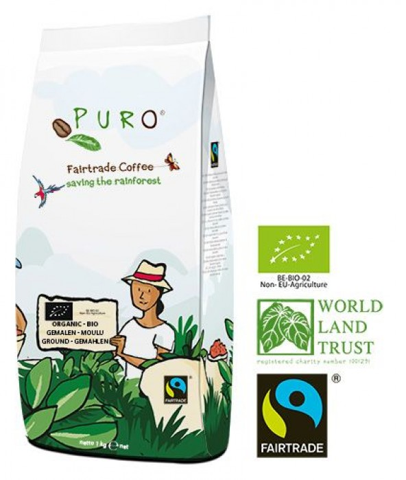 Puro Fairtrade Organic Dark Roast - Ground 1.000 g
