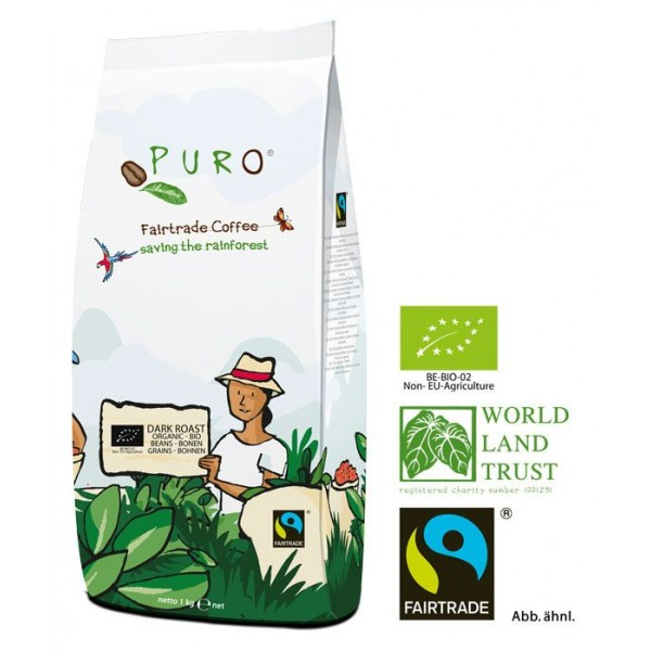 Puro Fairtrade Bio Dark Roast - Bohne 1.000 g