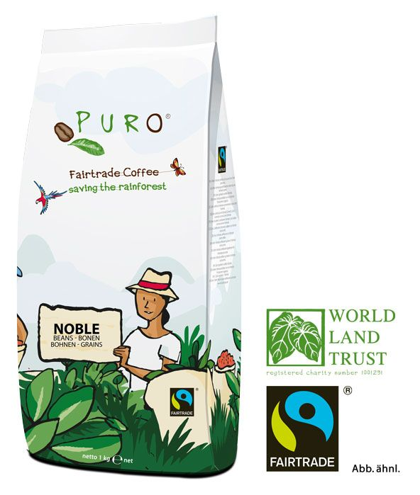Puro Fairtrade Noble  -  Bohne 1.000 g