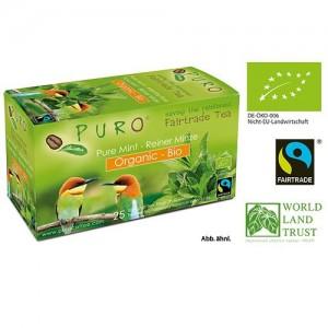 Puro Organic Fairtrade Tea - Green Mint