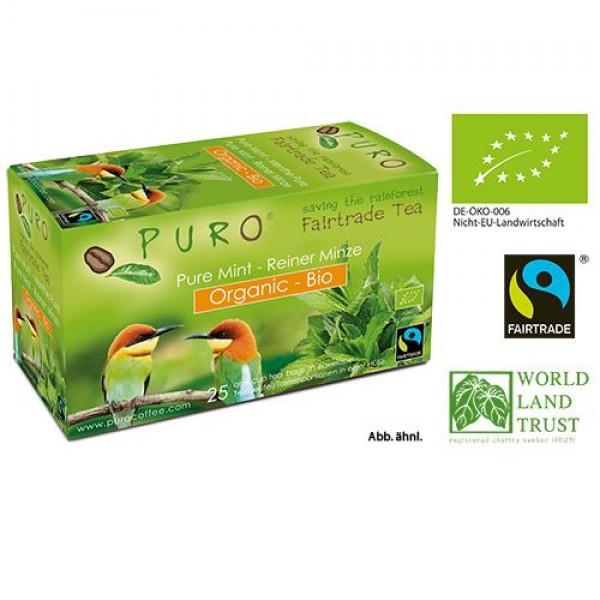 Puro Organic Fairtrade Tea - Green Mint