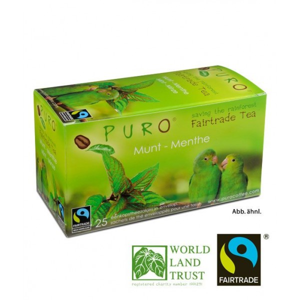 Puro Fairtrade Tea - Green Mint