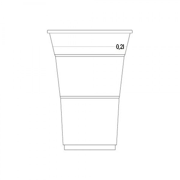 CUP FOR COLD DRINKS 200ml (transparent)
