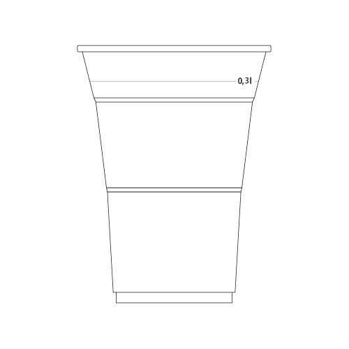 CUP FOR COLD DRINKS 300ml (transparent)