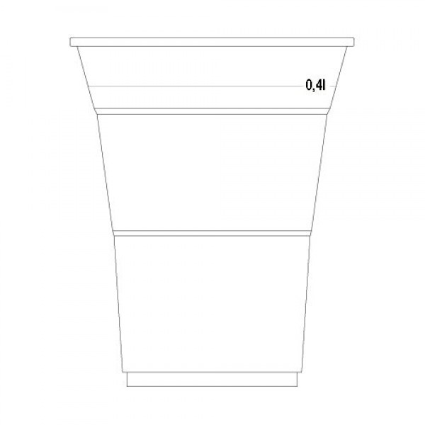 CUP FOR COLD DRINKS 400ml (transparent)