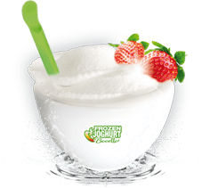 Frozen Joghurt Schuessel
